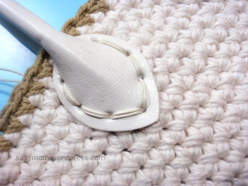 Diy Crochet Bag How To Attach Bag Handles Saltymom