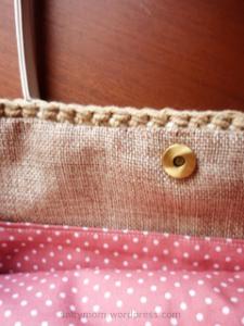 inner fabric combination for crochet bag