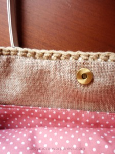 inner fabric combination for crochet bag