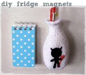 crochet fridge magnet