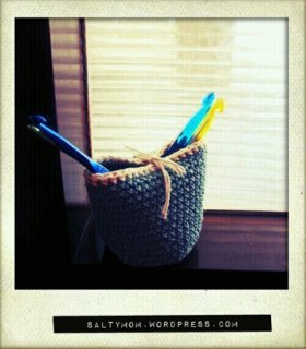 diy crochet container