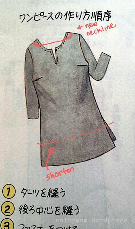 shift dress pattern 04