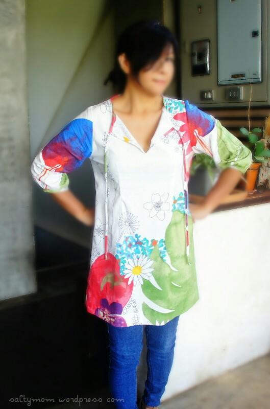 tunic top in ikea fabric