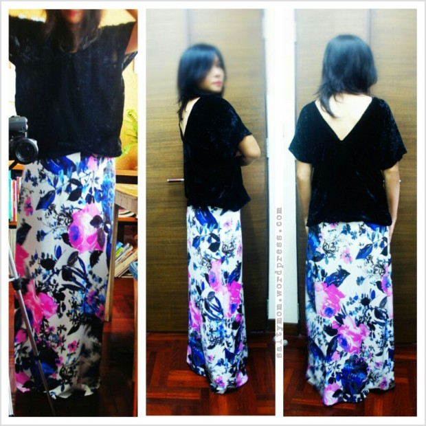 floral maxi skirt diy by saltymom.wordpress.com