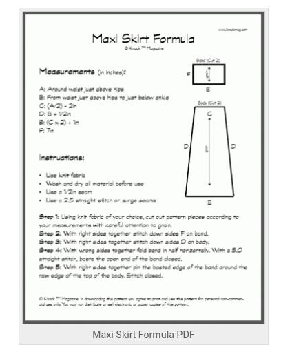 Maxi skirt pdf by knackmag.com