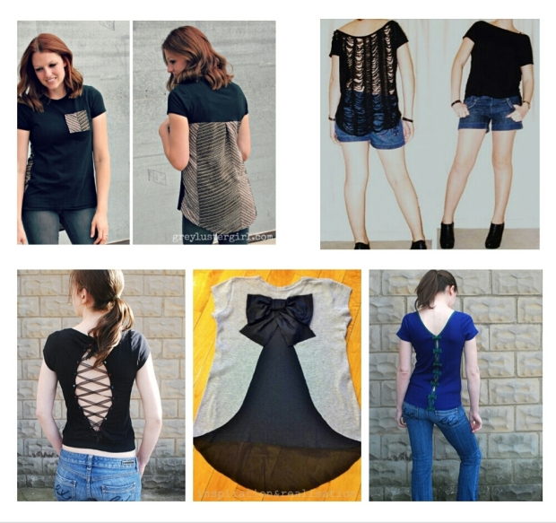 Refashion a T-shirt, back style