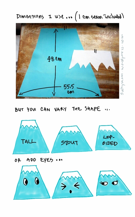 How to sew a Mt Fuji Cushion