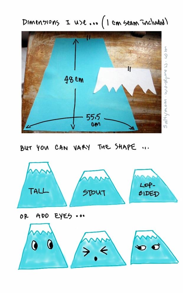 How to sew a Mt Fuji Cushion