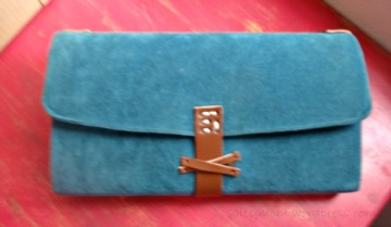 remake plastic file into suede clutch