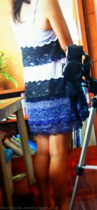 diy lacy waterfall party dress by saltymom.wordpress.com