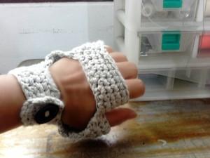 crochet bike gloves fingerless