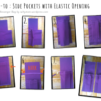 DIY Messenger Bag : Side Pockets with Elastic Opening ( Part 2.0 )