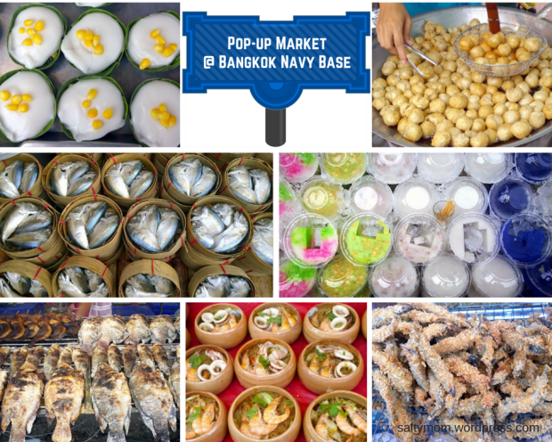 pop up market at bangkok navy base
