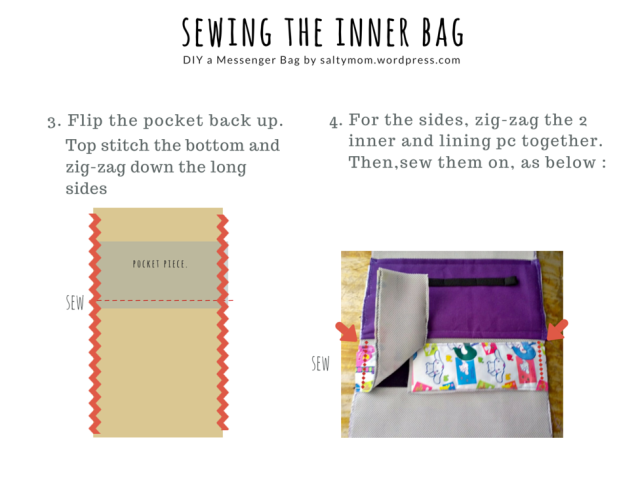 sewing the inner bag 2