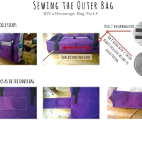 DIY a Messenger Bag : Sewing the Outer Bag ( Part 4)