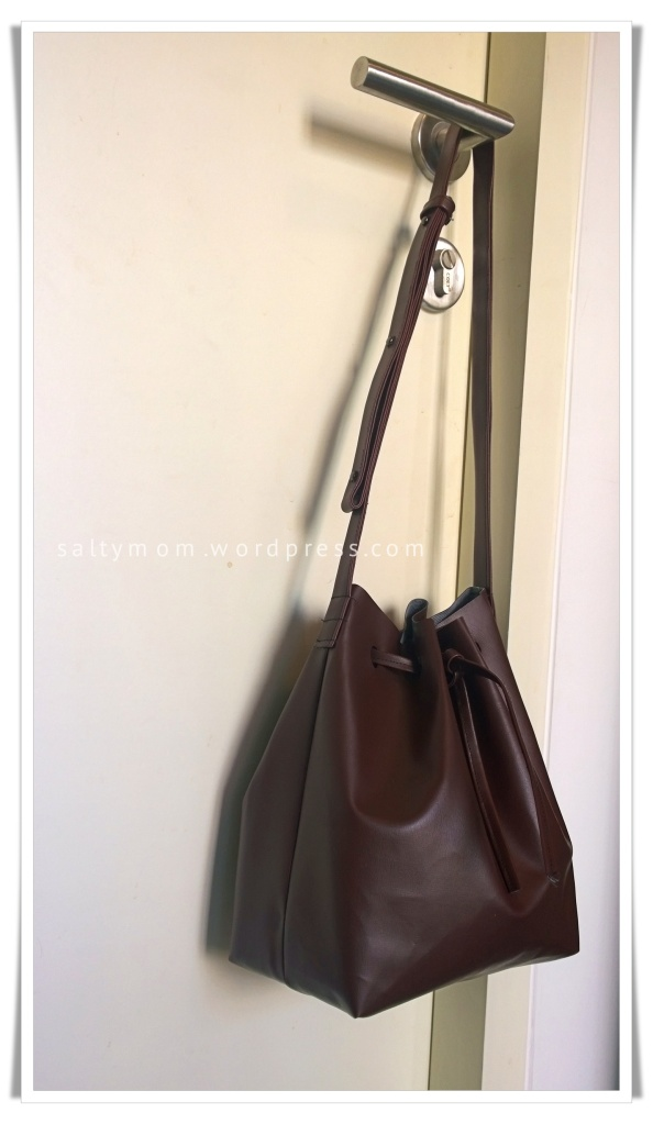 diy bucket bag side view