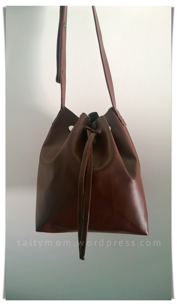 diy bucket bag front