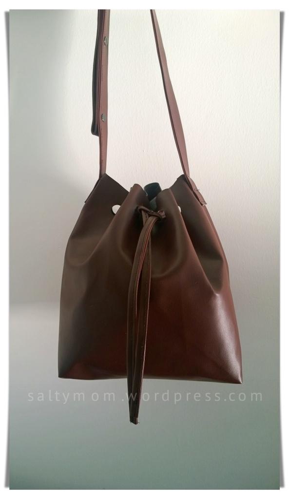 diy bucket bag front