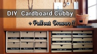 DIY Cardboard Cubby with Pull Out Drawer by saltymom.net200.jpg