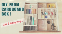 diy cardboard desk organizer with 3 sliding trays by saltymom.net 200px.jpg