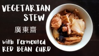 how to make chinese vegetarian stew with fermented red bean curd cantonese style by saltymom.net 200 px