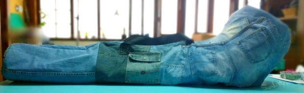 DIY Alphorn Recycled Denim Bag2 by saltymom.wordpress.com