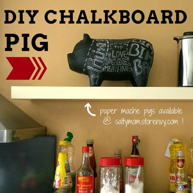 DIY CHALKBOARD PIG