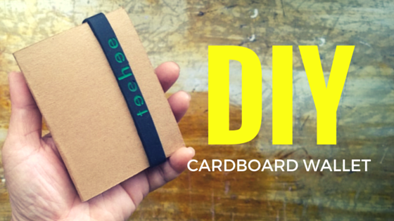 diy cardboard paper wallet slim design