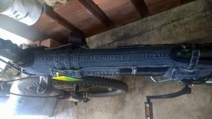 diy recycled denim bike frame cover
