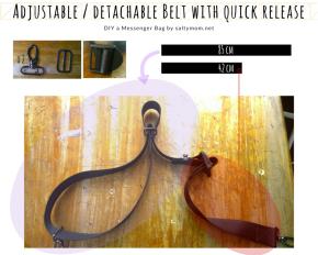 diy adjustable detachable belt with quick release by saltymom.net