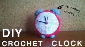 diy crochet clock with clock kit