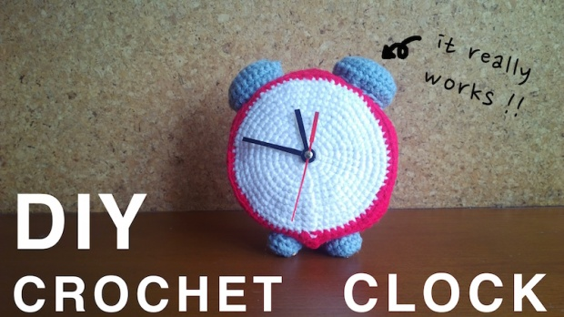 diy crochet clock with clock kit