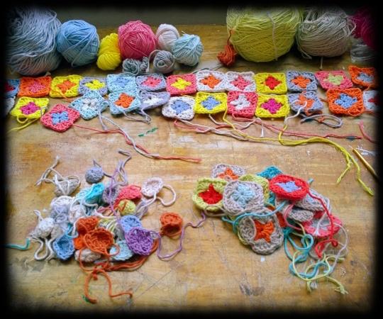 1 crochet granny squares wip