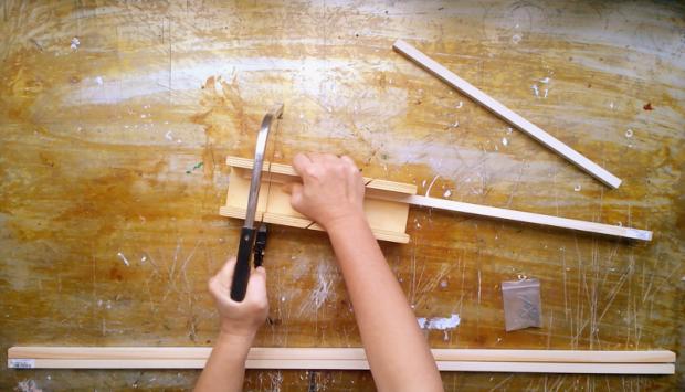 1 preparing wood for wooden frame
