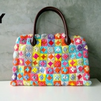 DIY : Granny Squares  Crochet Bag with Lining