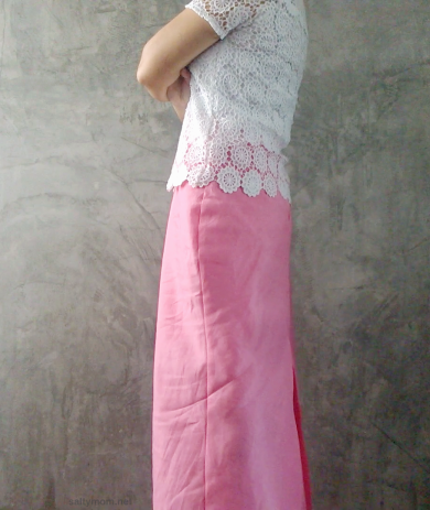 diy maxi japanese pattern sewing skirt