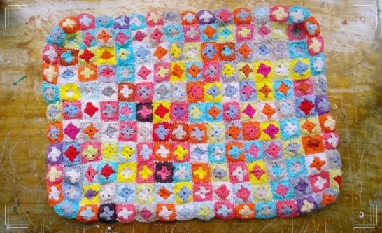 granny squares crochet cover