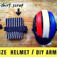 DIY Cycling Wear : Face Mask, Arm Sleeves, Helmet !