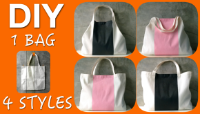 DIY one bag four styles transform market bag to tote bag
