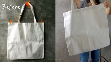diy tote bag before pic
