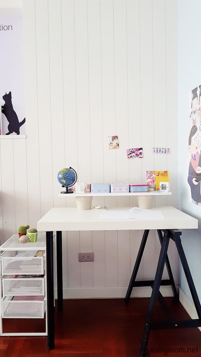 diy ikea hack children s lack desk and standing office desk salty mom. Black Bedroom Furniture Sets. Home Design Ideas