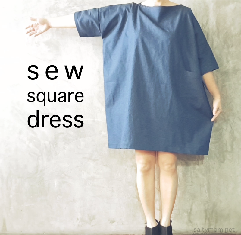 DIY : Sew a Square Dress with Free Pattern from Kokka-fabric.com ...