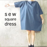 DIY : Sew a Square Dress with Free Pattern from Kokka-fabric.com