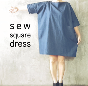 diy sew a square linen japanese dress saltymom.net