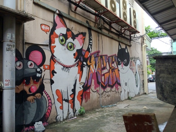 judy the cat graffiti charoen krung 28