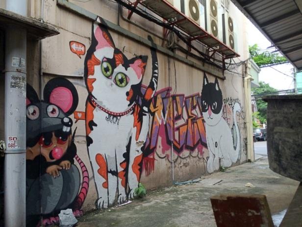 judy the cat graffiti charoen krung 28