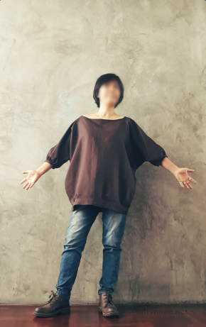 sew-a-self-drafted-pattern-blouse-with-gather-sleeves