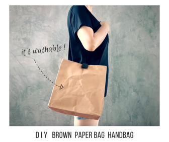 diy brown paper bag handbag by saltymom.net washable paper fabric