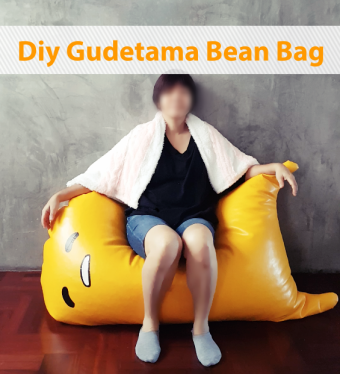 diy gudetama bean bag with bacon towel 2 by saltymom.net