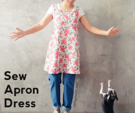 how to sew apron dress